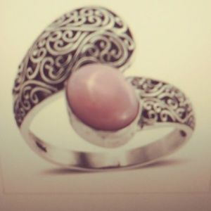New! Beautiful Persian pink opal ring size 6